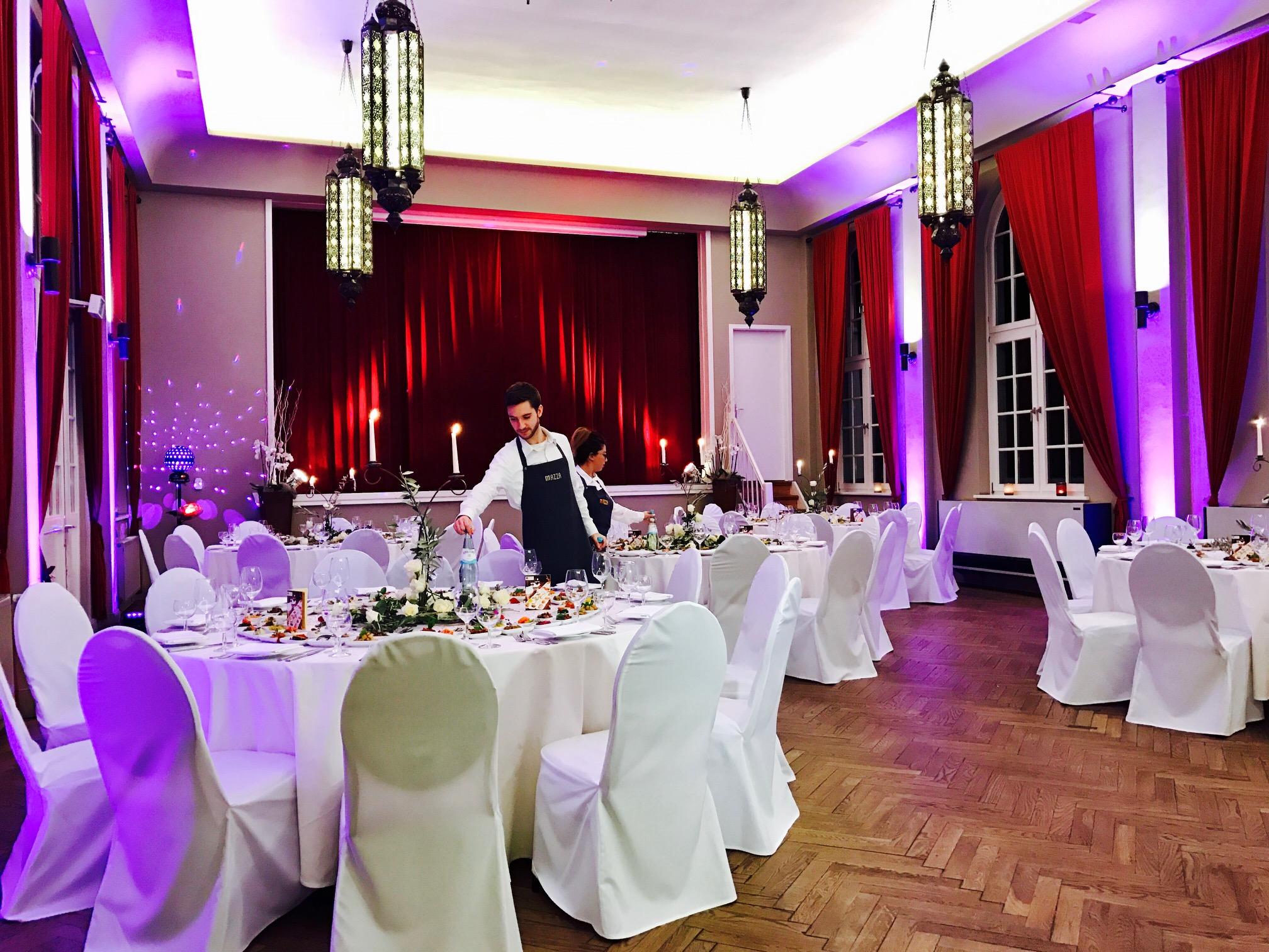 Hochzeiten mazza hamburg for Hussen hochzeit